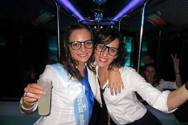 Despedida de soltera fiesta Discobus