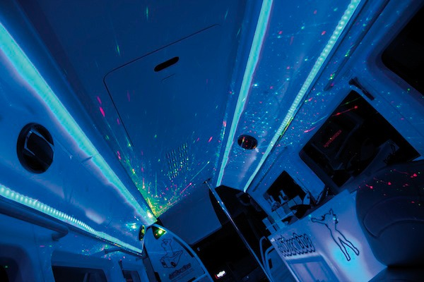 Iluminación láser del discobus