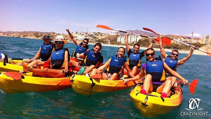 Kayak y Piraguas para despedida de soltero
